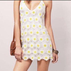 Tobi white crochet/lace sunflower mini dress